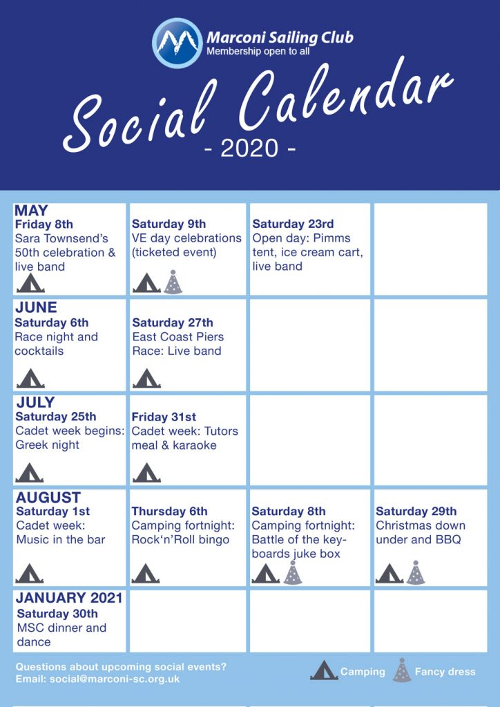 Marconi Sailing Club 2020 Social Poster