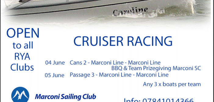 Cruiser Open – 4th / 5th June – Spring Series NOR & SI's