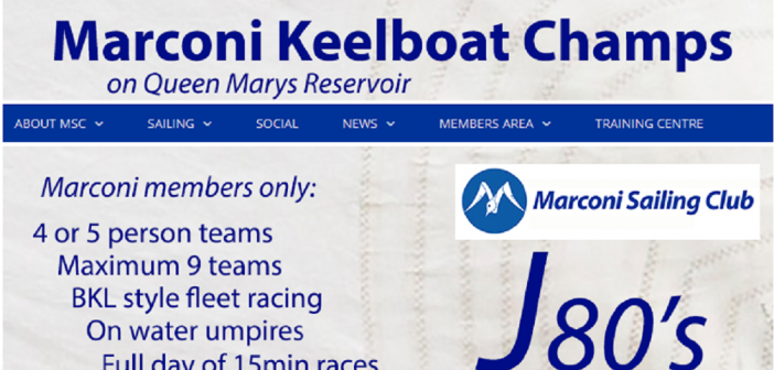 Marconi Inland Keelboat Championships 2018 – Enter Early!