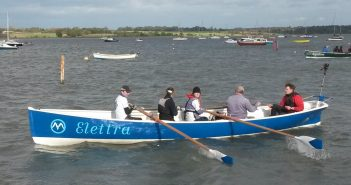 Marconi Sailing Clubs Rowing Gig in action