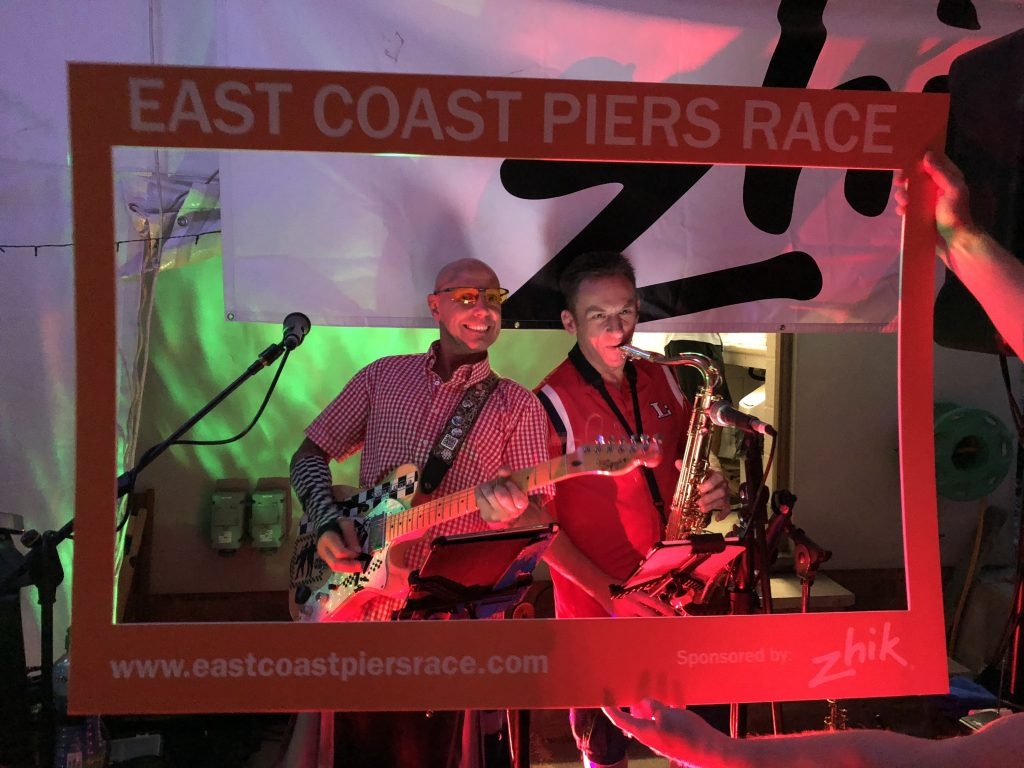 Monkies Wedding playing at the East Coast Piers Race sponsored by Zhik