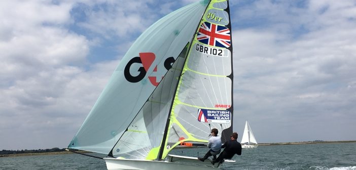49er Sailing at the East Coast Piers Race - Colne Point Race