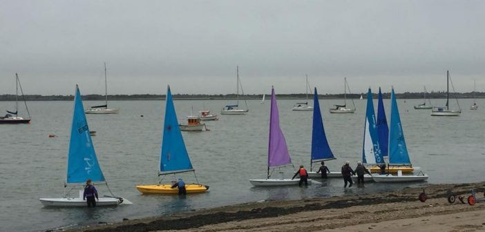 2018 Helm of the Year sailors launching at Marconi Sailing Club in Essex