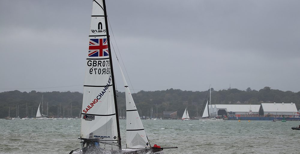Sailing Chandlery sponsored Nacra 15 from Marconi Sailing Club