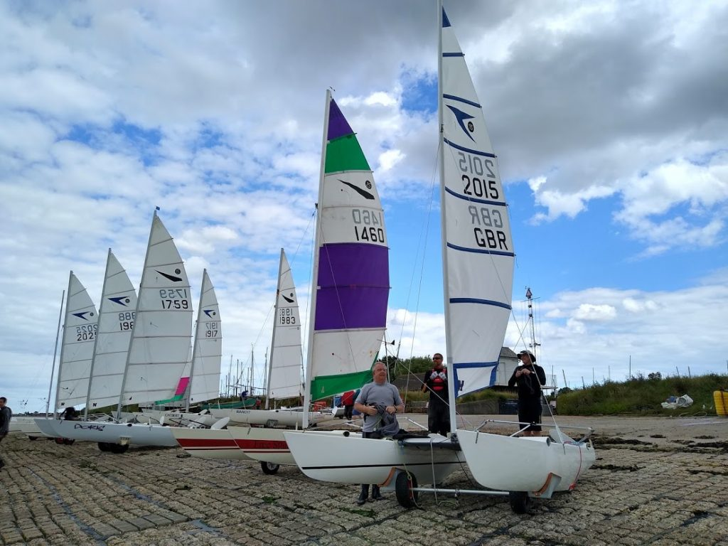 Sprint 15s on the hard at Marconi Sailing Club