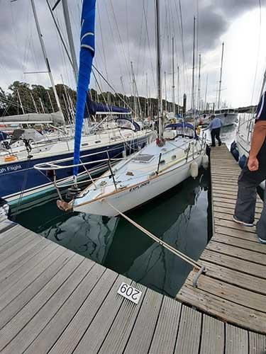 Sailing Yacht in Marina