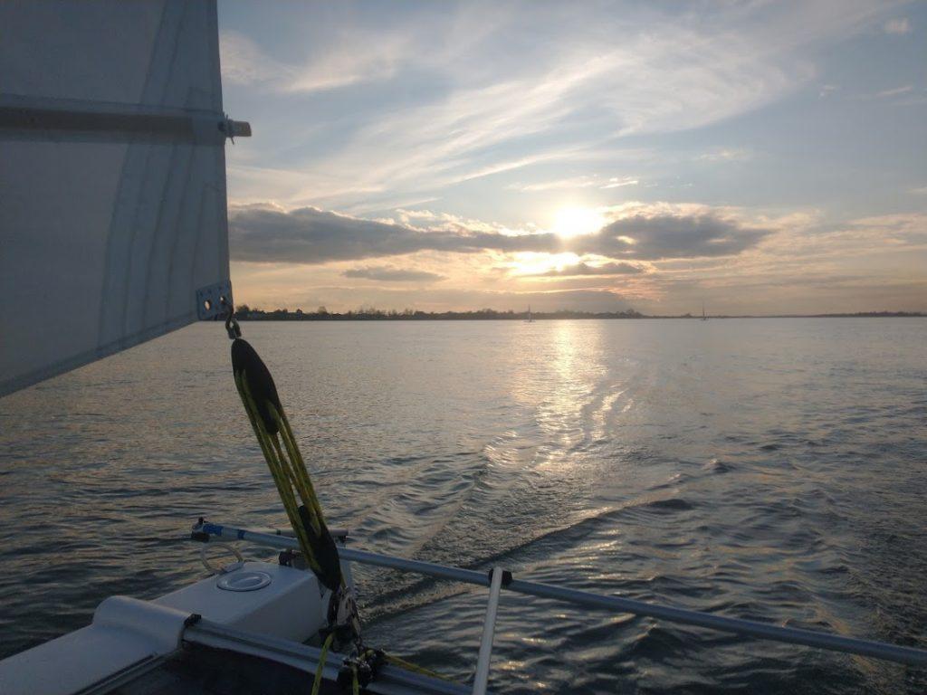 Sprint 15 sailing with the sun