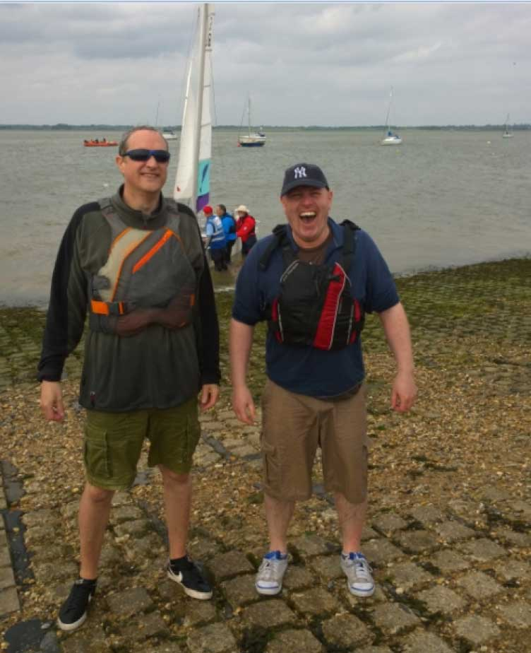 Lee Garton at Marconi Sailing Club Open Day