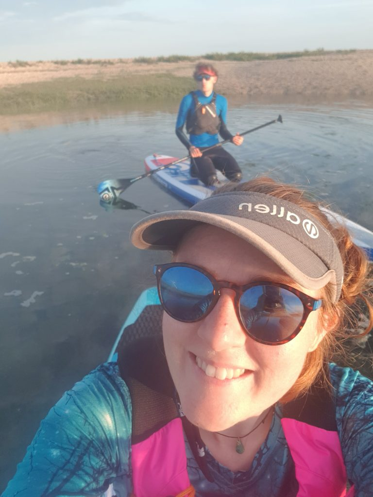 Paddle boarding on the River Blackwater