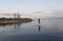Paddleboarding from Marconi Sailing Club on the River Blackwater in Essex