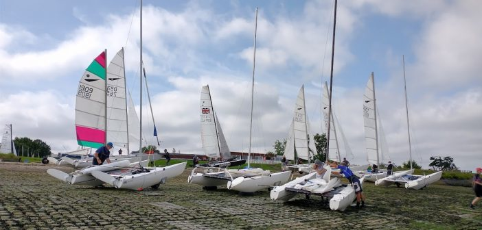 Boats rigging for the Pilots Cup from Marconi Sailing Club